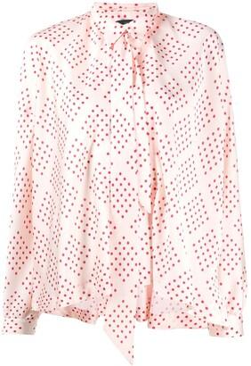 Jejia Polka Dot Print Pussybow Shirt