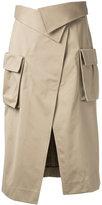 Monse - front split skirt - women - Cotton - 0