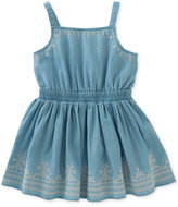 Calvin Klein Embroidered Denim Cotton Dress, Baby Girls (0-24 Months)