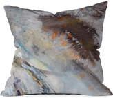 """Deny Designs Ginette Fine Art Rust 16"""" Square Decorative Pillow"""
