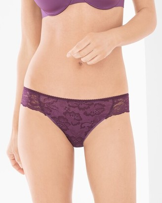Soma Intimates Vanishing Edge Microfiber with Lace Bikini