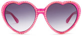 Betsey Johnson Women&s Bling It On Rhinestone Heart Sunglasses