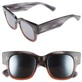 Salt Women's Tavita 50Mm Polarized Square Sunglasses - Grey Cinnamon/ Silver/ Blue