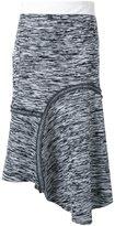 Bassike melange reverse seam skirt