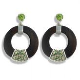 Luz Hissia ebony and peridot Earrings