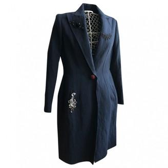 Lanvin Navy Wool Coat for Women