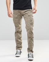 G Star G-Star Cargo Pants Rovic Slim Fit Stretch Twill Beige Overdye