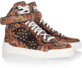 Givenchy Printed silk-twill high-top sneakers