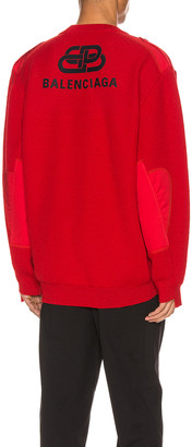 Balenciaga Long Sleeve Crewneck in Red | FWRD