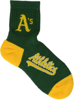 For Bare Feet Oakland Athletics Ankle TC 501 Med Socks