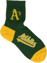 For Bare Feet Oakland Athletics Ankle TC 501 Med Socks