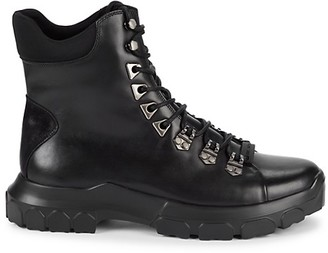 Karl Lagerfeld Paris Leather Textile Hiker Boots