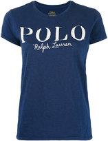Polo Ralph Lauren logo print T-shirt - women - Cotton - M