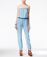 American Rag Strapless Chambray Jumpsuit, Only at Macy's