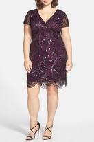Marina Beaded Empire Waist Dress (Plus Size)