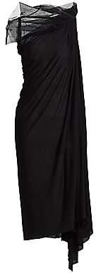 Rick Owens Lilies Women's Tulle Drape Shift Dress