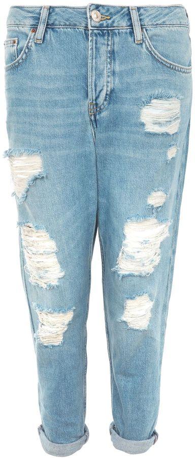 "Topshop TALL 36"" Super Rip Hayden Jeans"