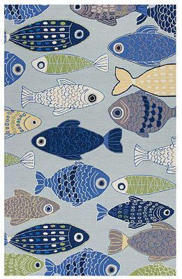 Kas Sea Of Fish Hooked Rectangular, Round & Runner Rugs