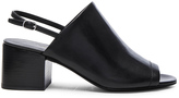 3.1 Phillip Lim Leather Cube Slingback Heels