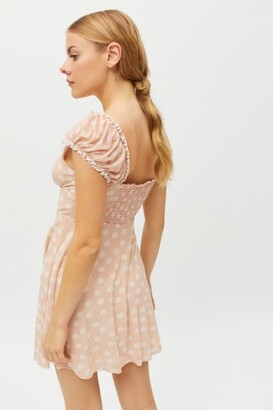 Urban Outfitters Audrey Mesh Mini Dress