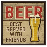 PTM Images Beer Best Served With Friends Inverse Framed Giclee Art - 13x13