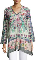 Johnny Was Tribeca Long-Sleeve Floral Tunic, Multi