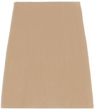 Ganni Rayon Slip Skirt in Tannin