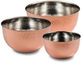 Cambridge Silversmiths 3-pc. Hammered Copper Mixing Bowl Set