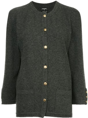 Chanel Pre Owned Buttoned Up Cardigan