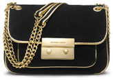 MICHAEL Michael Kors Small Specchio Sloan Suede Shoulder Flap Bag