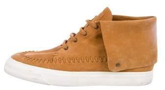 Giuseppe Zanotti Suede Whipstitch Sneakers
