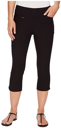 Lisette L Montreal Solid Magical Lycra(r) Capri Pants (Black) Women's Casual Pants