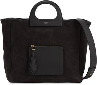 Max Mara Large Grace Shearling & Leather Bag