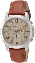 Fossil Men's FS5118 Stainless Steel Watch with Leather Band