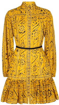 Zimmermann Belted cotton minidress