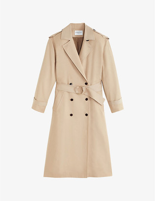 Claudie Pierlot Gaillet double-breasted lyocell trench coat