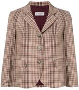 Alberto Biani cropped plaid jacket