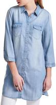Only Bibi 3/4 Sleeve Long Denim Shirt