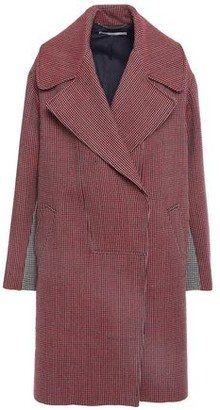 Stella McCartney Two-tone Houndstooth Wool Coat
