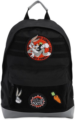 Looney Tunes Canvas Backpack W/ Patches
