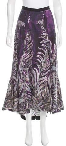 Tome Leaf Print Edwardian Skirt