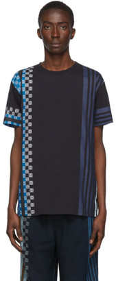 Loewe Navy Stripe Anagram T-Shirt