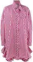 House of Holland gingham shirt dress - women - Cotton/Polyester - 12