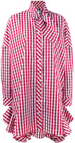 House of Holland gingham shirt dress - women - Cotton/Polyester - 8
