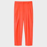 Paul Smith Women's Orange Wool Double-Pleat Trousers