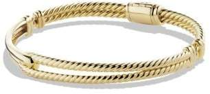 David Yurman Petite Pave Labyrinth Single-Loop Bracelet In 18K Gold,