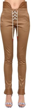 Monse Stretch Cotton Lace-up Pants
