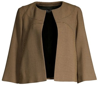Piazza Sempione Check Open Front Jacket