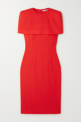 Givenchy Cape-effect Wool-crepe Dress - Red