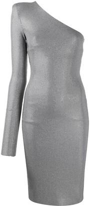 Alexandre Vauthier microcrystal one shoulder dress